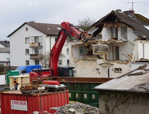 03/2019 Gebäuderückbau Postraße 2 und 4