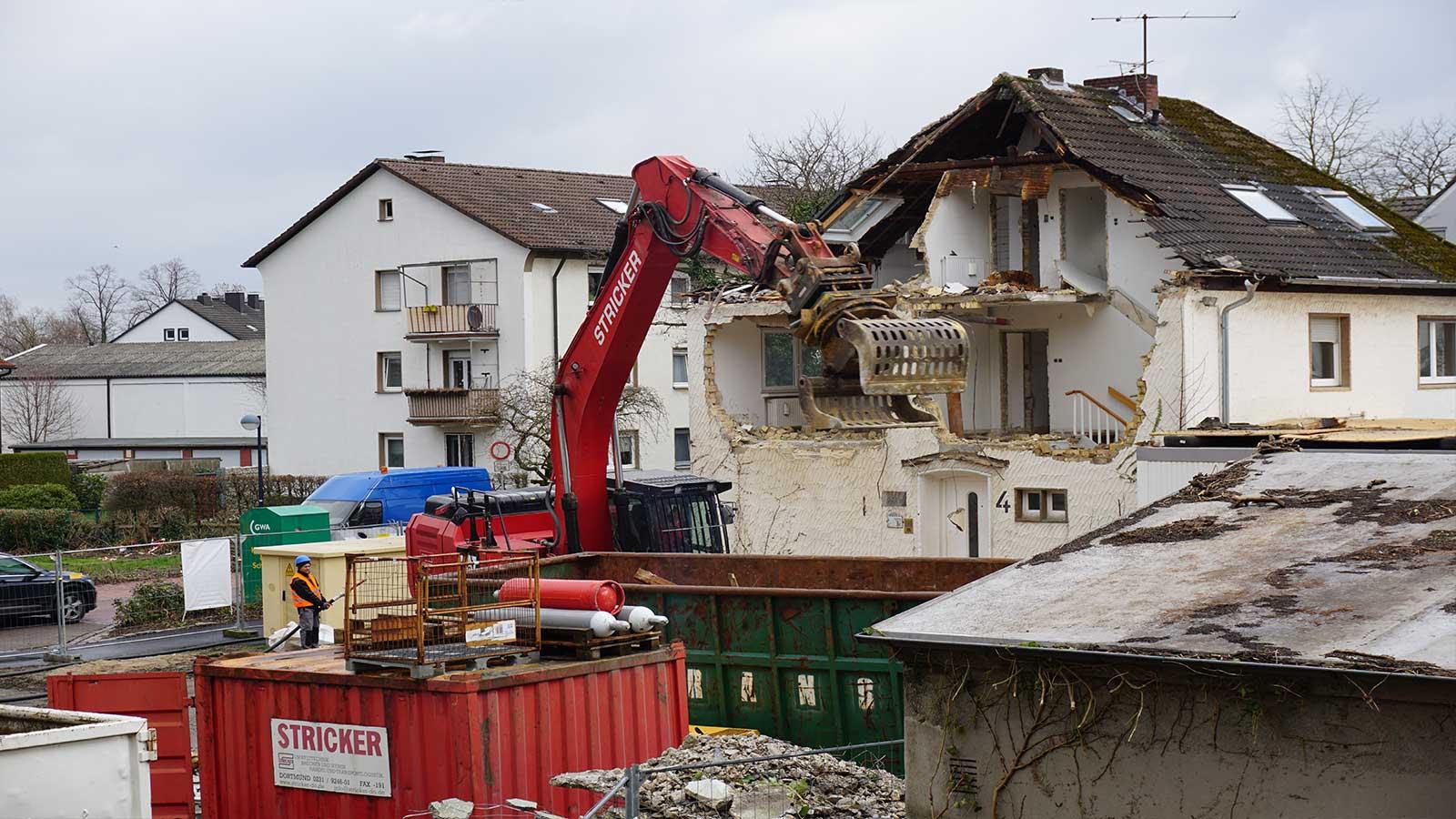 Gebäuderückbau Poststraße 4